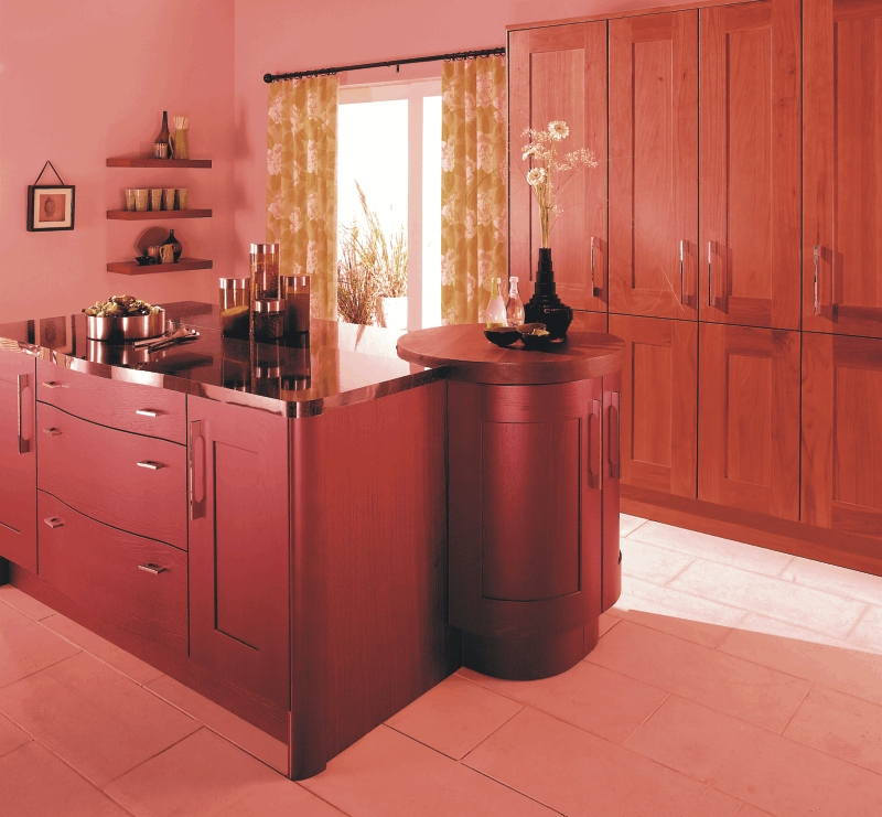 Kitchen style aston chilli red from fitted kitchens for Kitchens direct